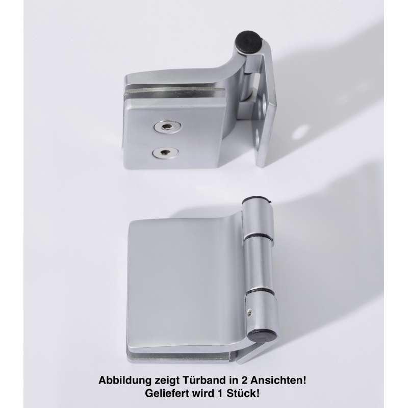 Infraworld Türband eckig für Saunatüren 1 Stück für 6 bzw 8 mm Glastür