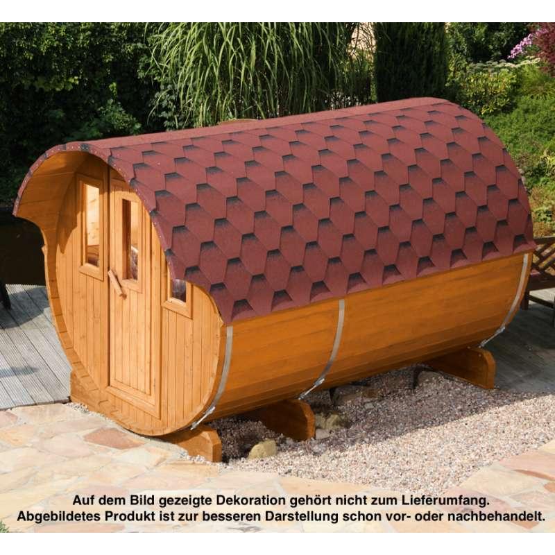 WOLFF FINNHAUS Saunafass 330 Fichte 42 mm naturbelassen Gartensauna Außensauna