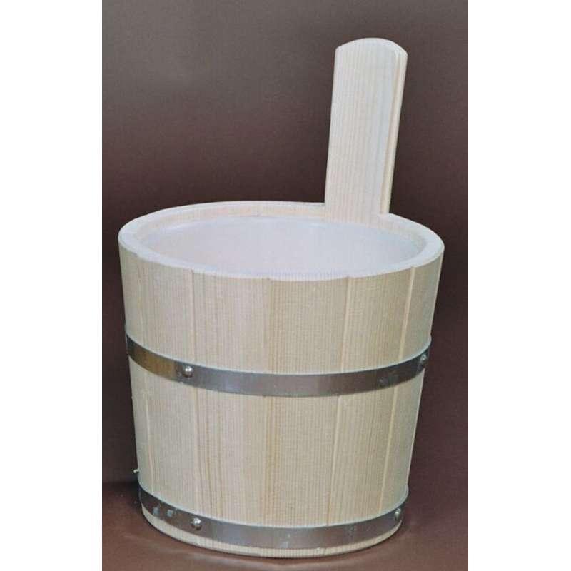 Achleitner Sauna Aufgusskübel Fichtenholz 5 l mit Kunststoffeinsatz