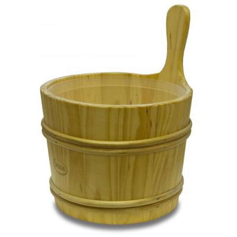 Nikkarien Sauna Holzkübel 7 l Kiefer mit Kunststoffeinsatz 897