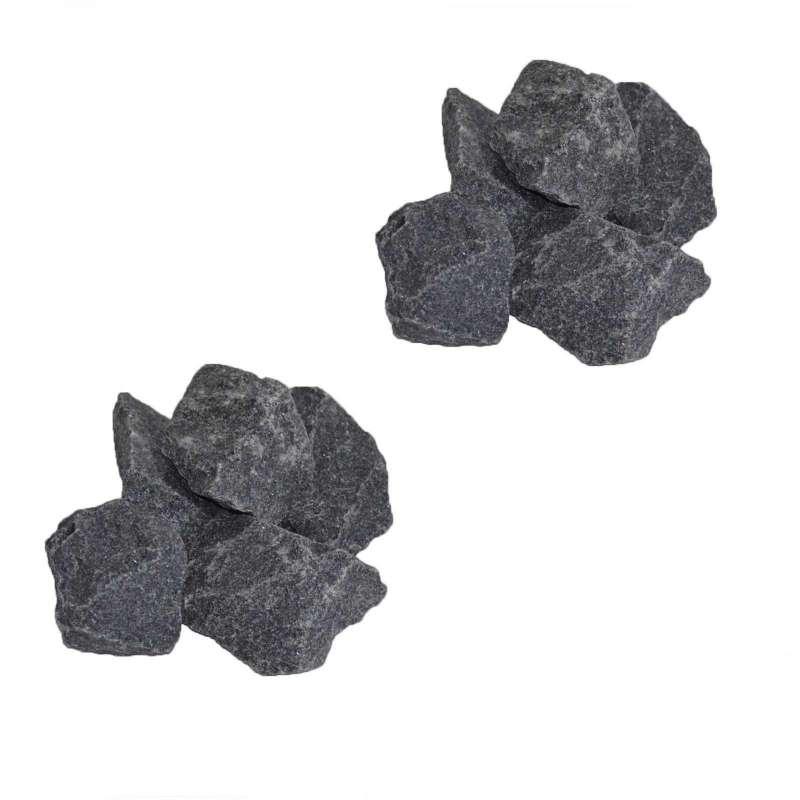 Saunasteine-Set 40 kg 5-10 cm Ofensteine Steine für Saunaofen Elektroofen R-990