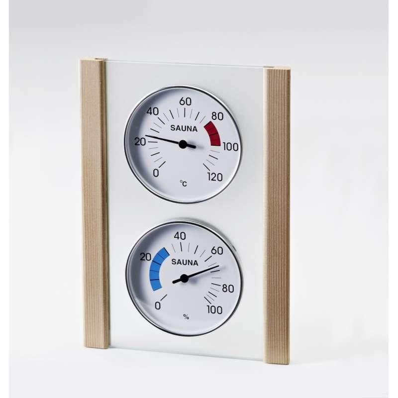 Infraworld Klimamessstation mit Glas Holzrahmen in Zeder Saunazubehör S2287