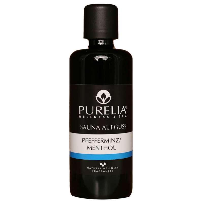 PURELIA Saunaaufguss Konzentrat Pfefferminz-Menthol 100 ml natürlicher Sauna-aufguss - reine ätheris