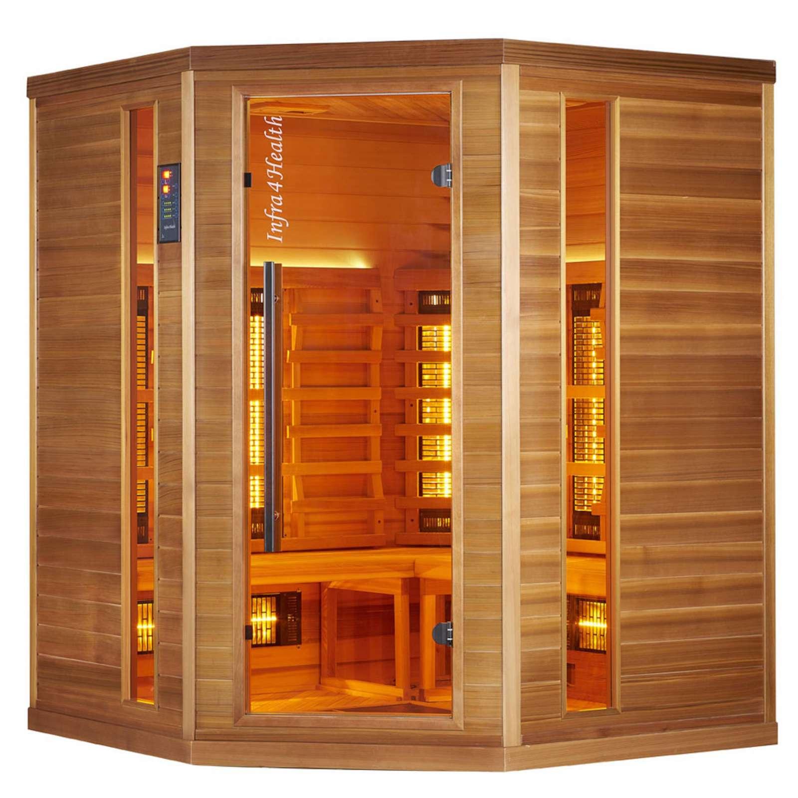 Häufig Infra 4 Health I-160 Infrarotkabine Sauna mit Zedernholz für 4 GE91