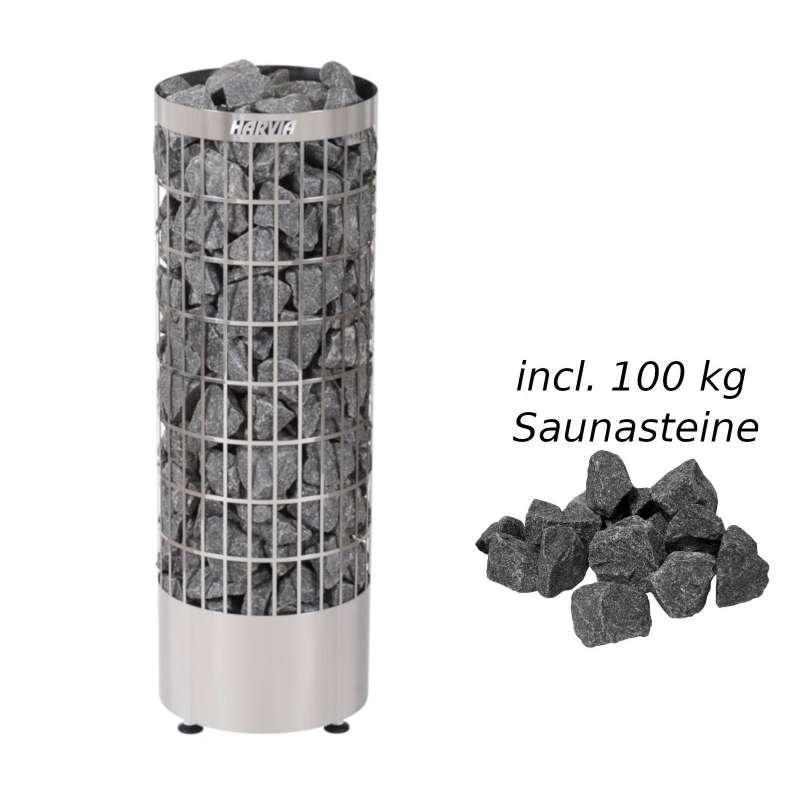Harvia Saunaofen PC90E Cilindro E 9,0kW Elektroofen Saunaheizgerät inkl. 100 kg Saunasteine