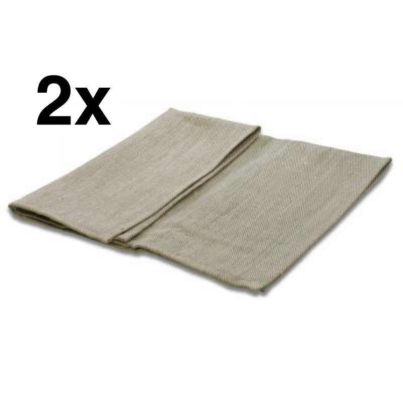 Nikkarien Saunatuch Sitztuch 45 x 55 cm Handtuch 100 % Leinen 2 Stück