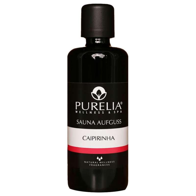 PURELIA Saunaaufguss Konzentrat Caipirinha 100 ml natürlicher Sauna-aufguss - reine ätherische Öle