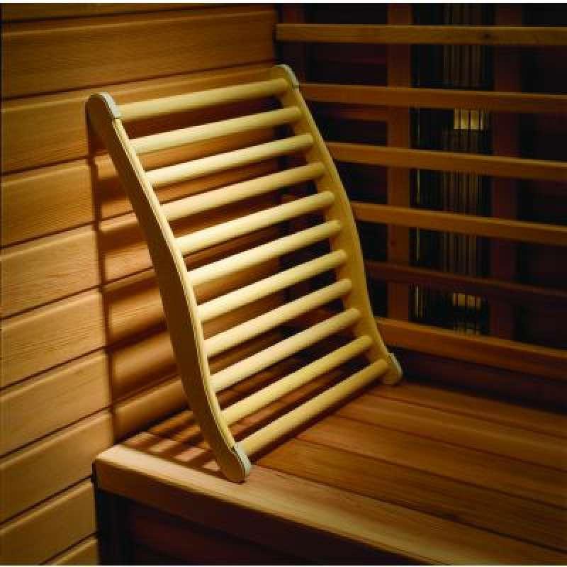 Infraworld Ergonomische Rückenlehne Pappel für Saunakabine Saunazubehör W4408
