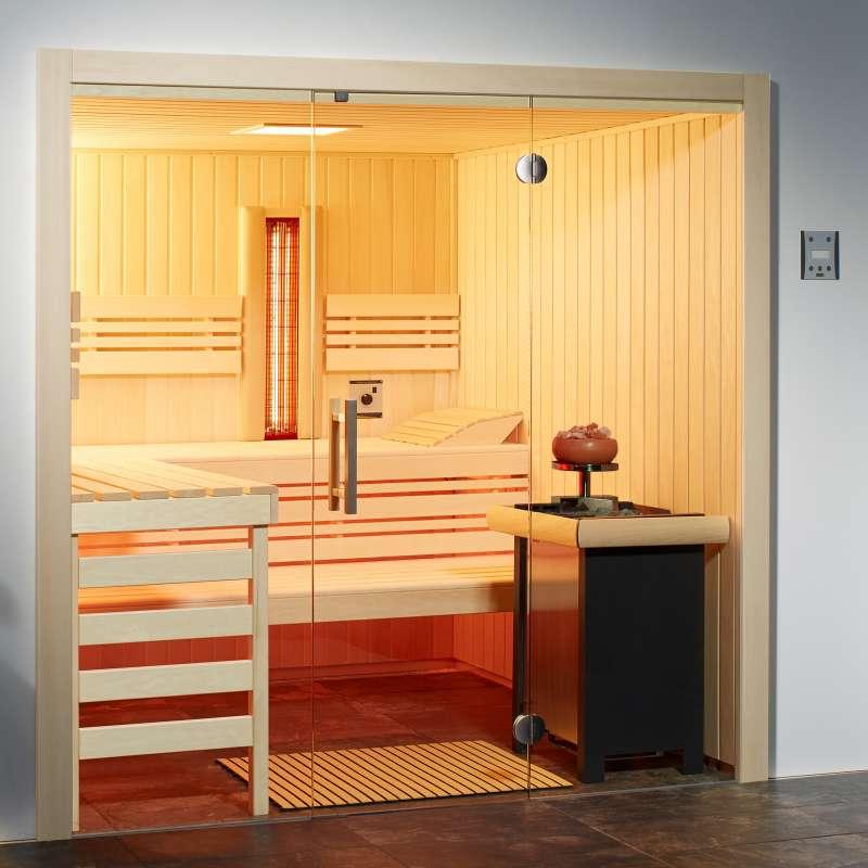 Infraworld Sauna Opal Elementkabine Größe 210 x 180 cm in Fichte Saunakabine