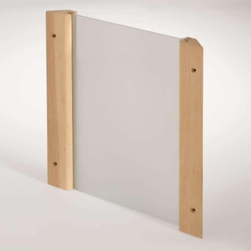 Infraworld Eckblendschirm Design Fichte ESG Glas für Sauna Saunazubehör S2260