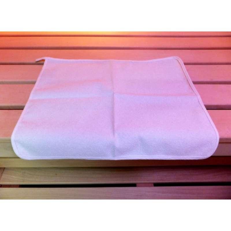 Sauna Sitztuch Unterlage Schwitztuch für Dampfbad Wärmekabine 35 x 45 cm weiß