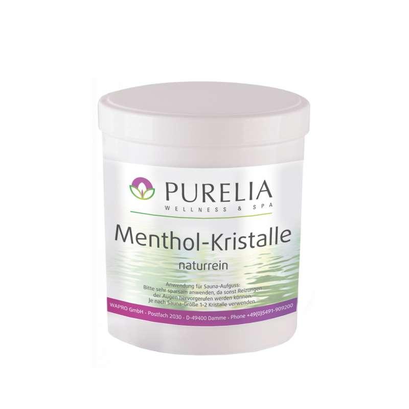Purelia Mentholkristalle 100g naturrein Menthol Kristalle für Sauna Aufguss
