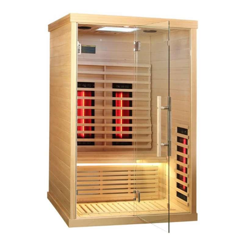 Infra Spezial 130 Infrarotkabine Sauna mit Full Spectrum Strahler 1 - 2 Personen
