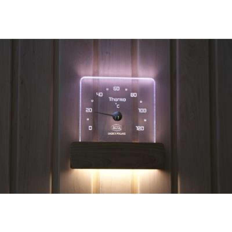 Nikkarien Sauna LED Saunathermometer - EEK: A+ Spektrum A++ bis E - Polycarbonat