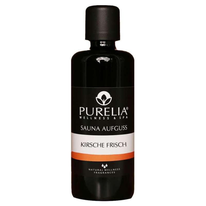 PURELIA Saunaaufguss Konzentrat Kirsche frisch 100 ml natürlicher Sauna-aufguss - reine ätherische Ö
