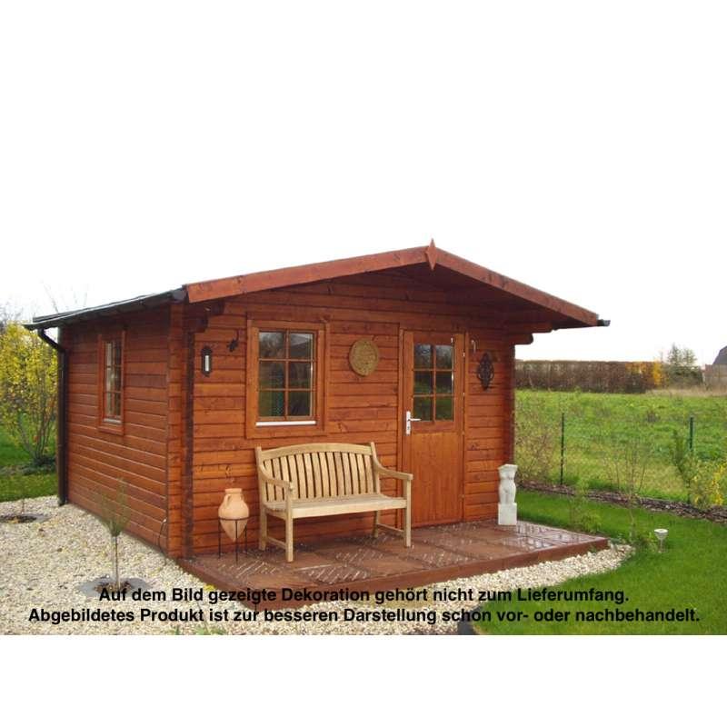 WOLFF FINNHAUS Saunahaus Ella 70 naturbelassen 395 x 366 cm Außensauna Sauna