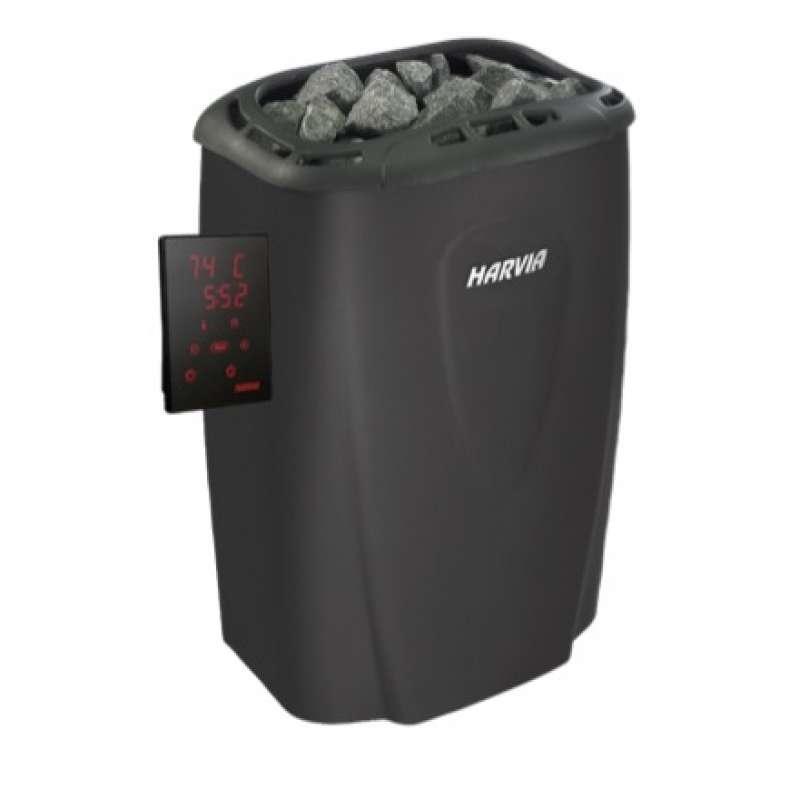 Harvia Moderna XE 4,5 kW Saunaofen Schwarz inkl. Steuerung Xenio - Touchbedienfeld