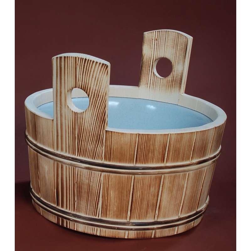 Achleitner Sauna Fußbecken Wärmebecken aus Fichtenholz 14 l Inhalt 647