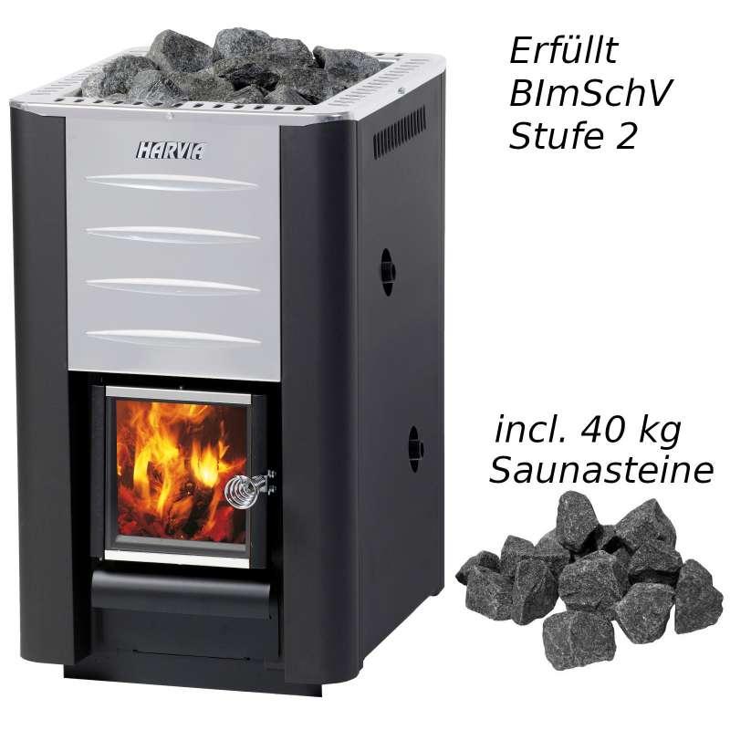 Harvia 20 Boiler Saunaofen 24,1 kW BImSchV Stufe 2 Holzofen holzbeheizt WK200B