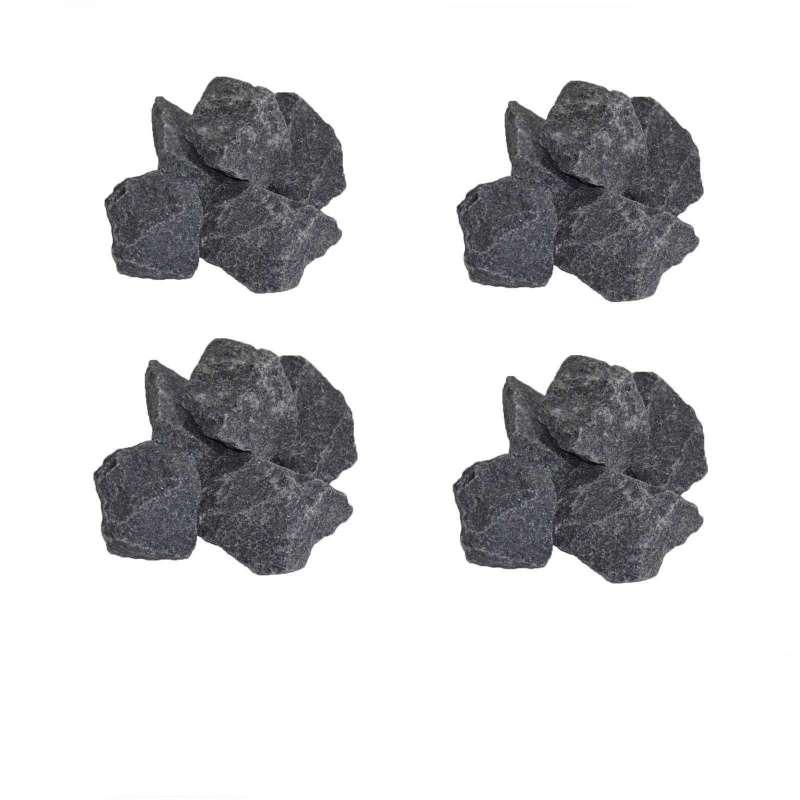 Saunasteine-Set 80 kg 5-10 cm Ofensteine Steine für Saunaofen Elektroofen R-990