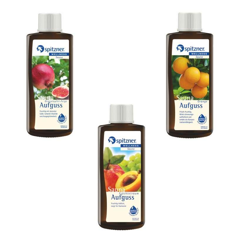 Spitzner Vorteilspack 3er Früchtetraum Granatapfel Orange Saunaduft je 190 ml