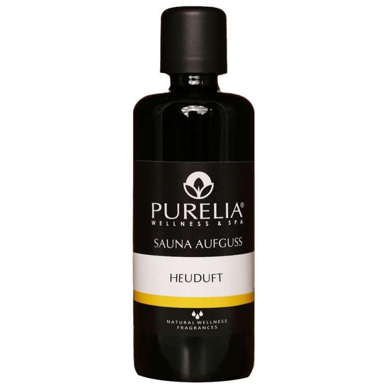 PURELIA Saunaaufguss Konzentrat Heuduft 100 ml natürlicher Sauna-aufguss - reine ätherische Öle
