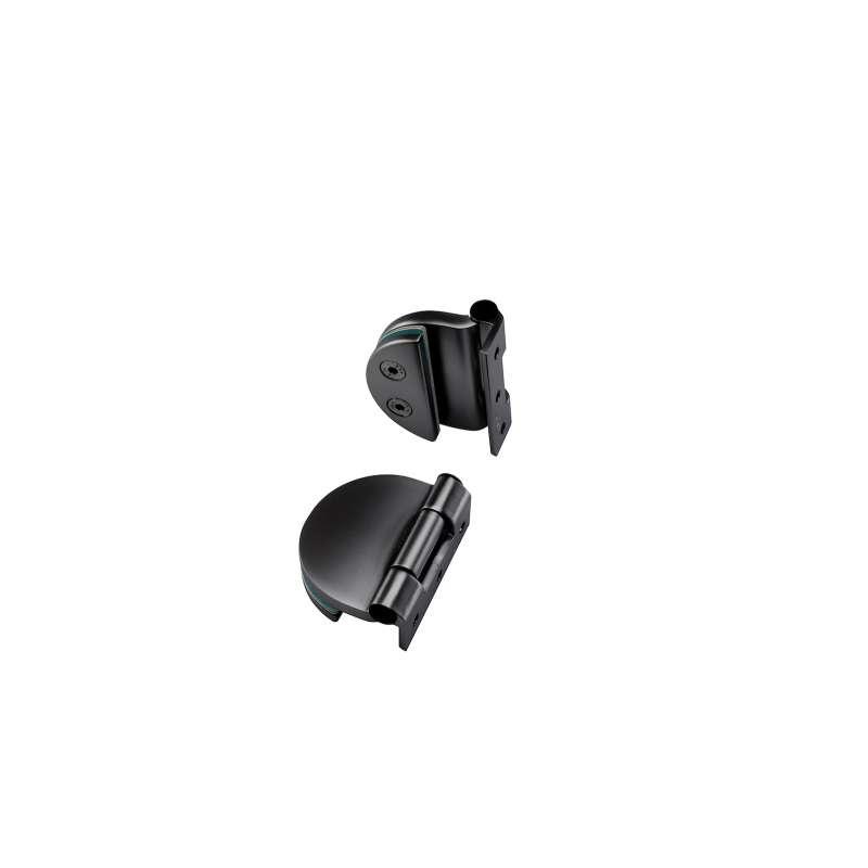 Infraworld Türband schwarz matt für 6 bzw. 8 mm Glastür Saunatür 2 Stück