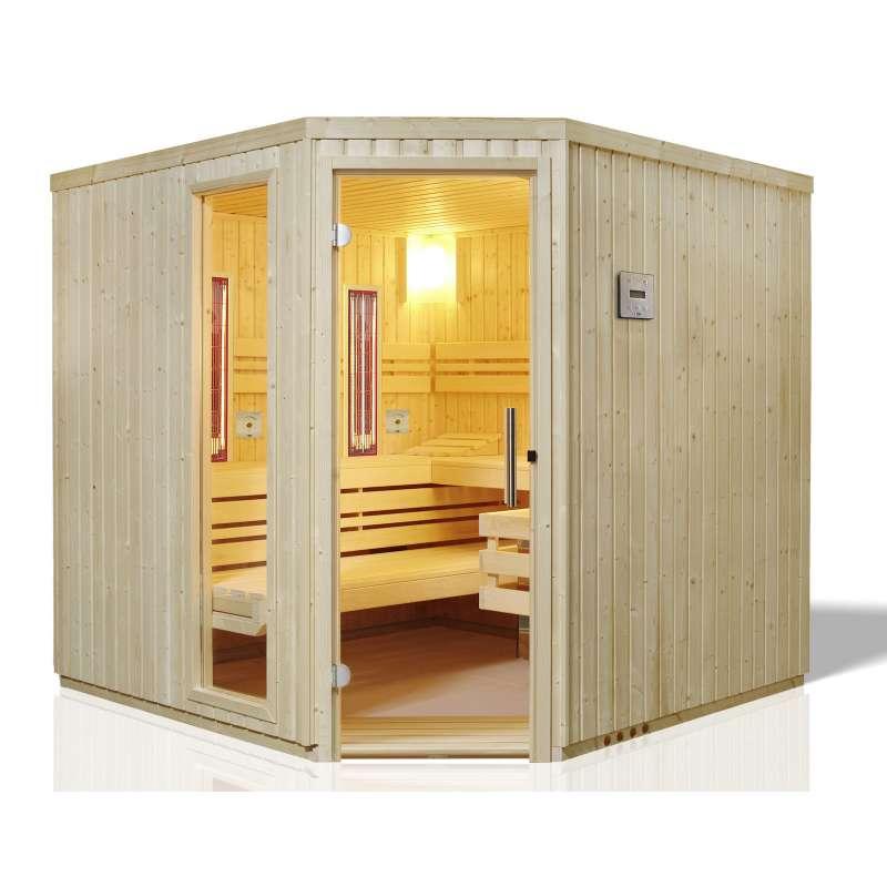 Infraworld Sauna Safir Complete 213 x 213cm Multifunktionssauna 391032