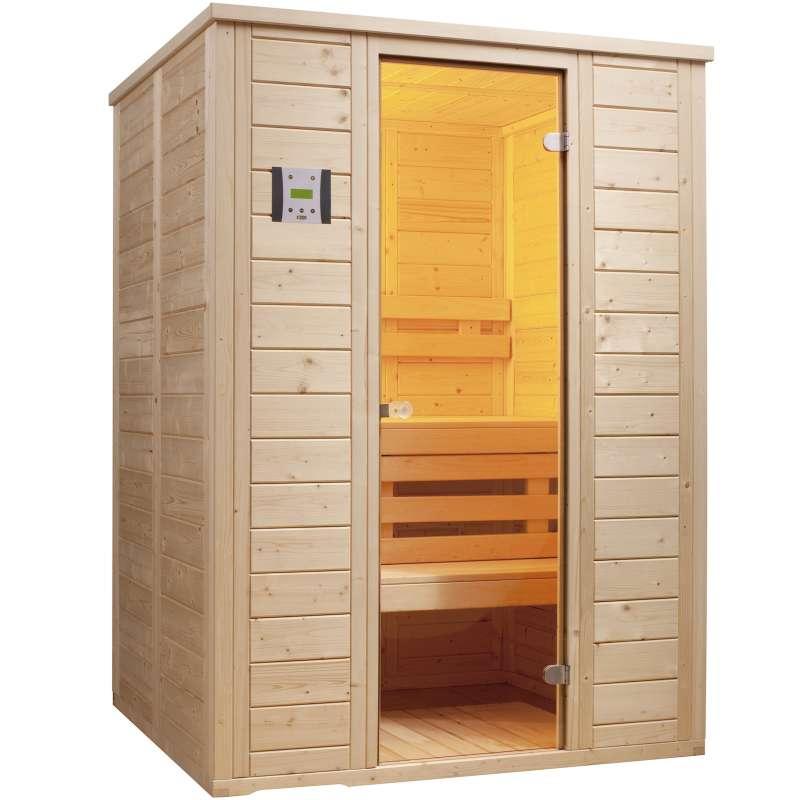 Infraworld Sauna Vitalis 148 Massivsauna Größe 148x119 cm nord Fichte 390111