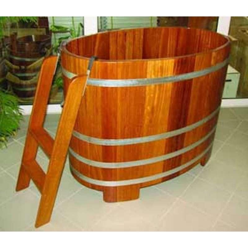 Arend Tauchkübel Kambala-Holz inkl. Einstiegsleiter ca. 350 L Sauna Tauchbecken