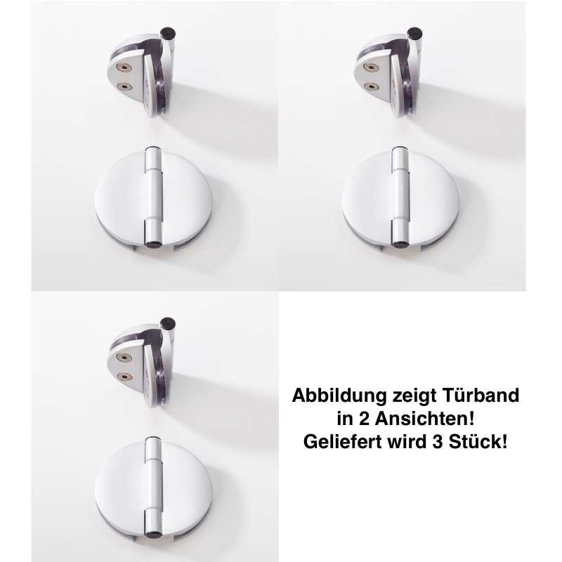 Infraworld Türband Doppel für Saunatüren 3 Stk für 6 bzw. 8 mm Glastuer