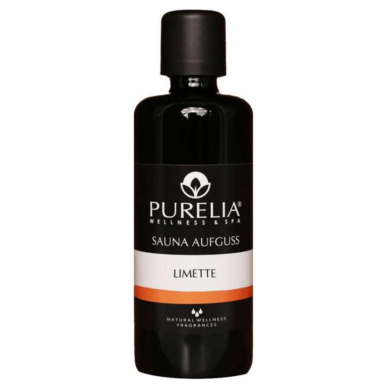 PURELIA Saunaaufguss Konzentrat Limette 100 ml natürlicher Sauna-aufguss - reine ätherische Öle