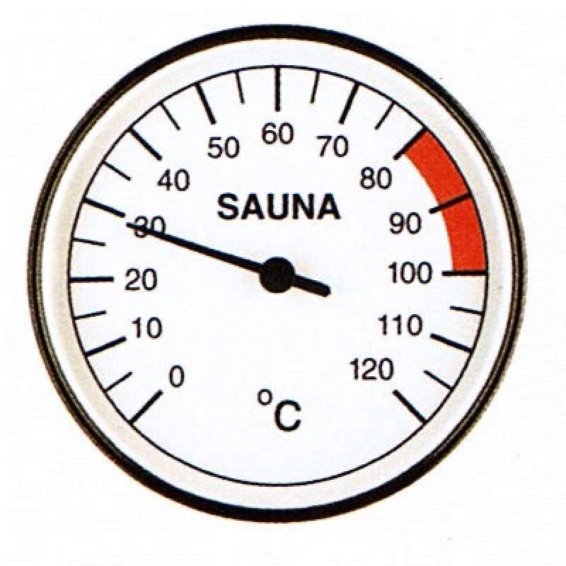 Infraworld Thermometer 100 mm Durchmesser Saunazubehör Saunamessgerät S2214