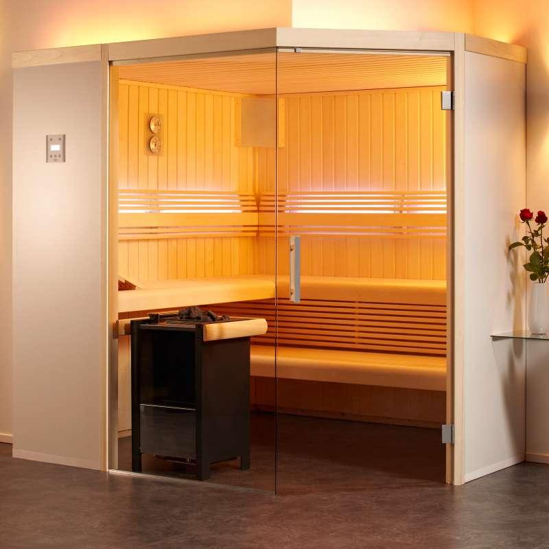 Infraworld Sauna Aurora Premium 210 x 210 cm Elementsauna 391035