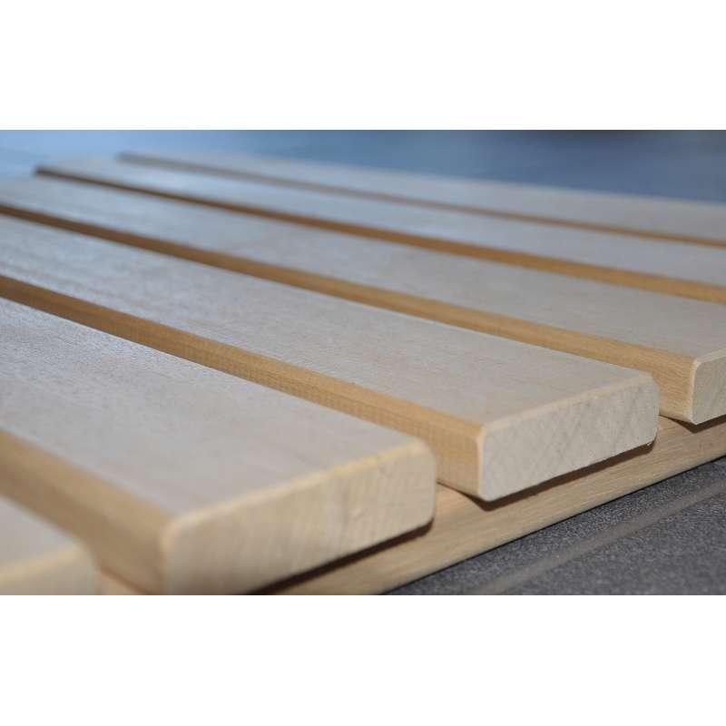 Arend Saunaliege Abachi 47 cm breit 1 lfd. Meter für Saunakabine