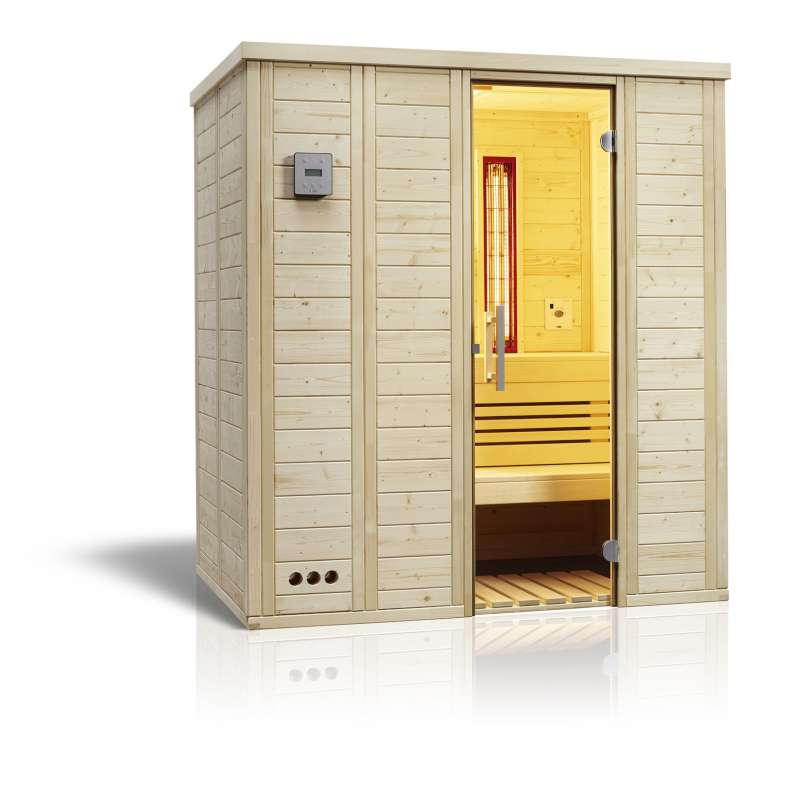 Infraworld Sauna Vitalis 184 Complete Infrarotsauna Größe 184 x 119 cm 391089