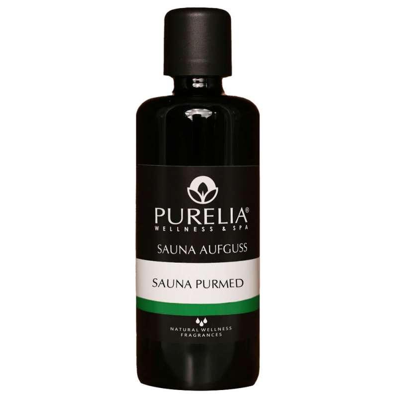 PURELIA Saunaaufguss Konzentrat Sauna PurMed 100 ml natürlicher Sauna-aufguss - reine ätherische Öle