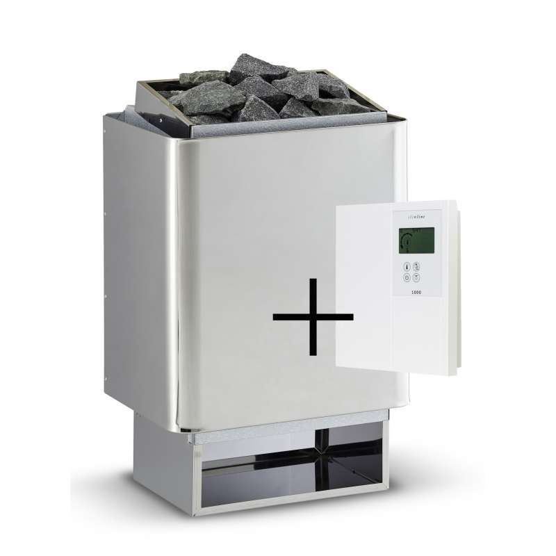 Infraworld Saunaofen 7,5 kW Hotline V4 inkl. Saunasteuerung Slimeline 1000