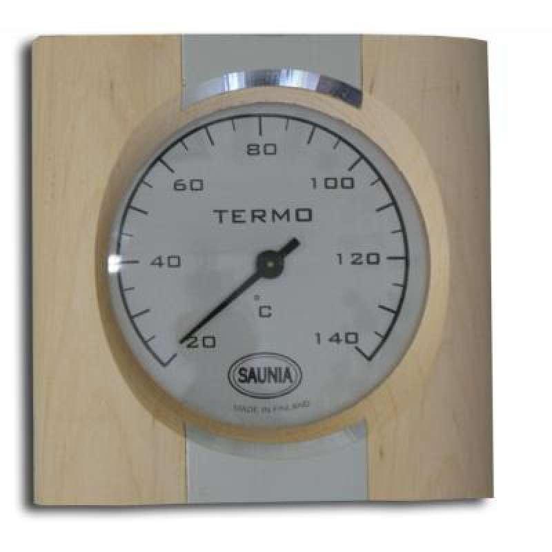 Nikkarien Sauna Thermometer bis 140 °C Rahmen aus Roterle