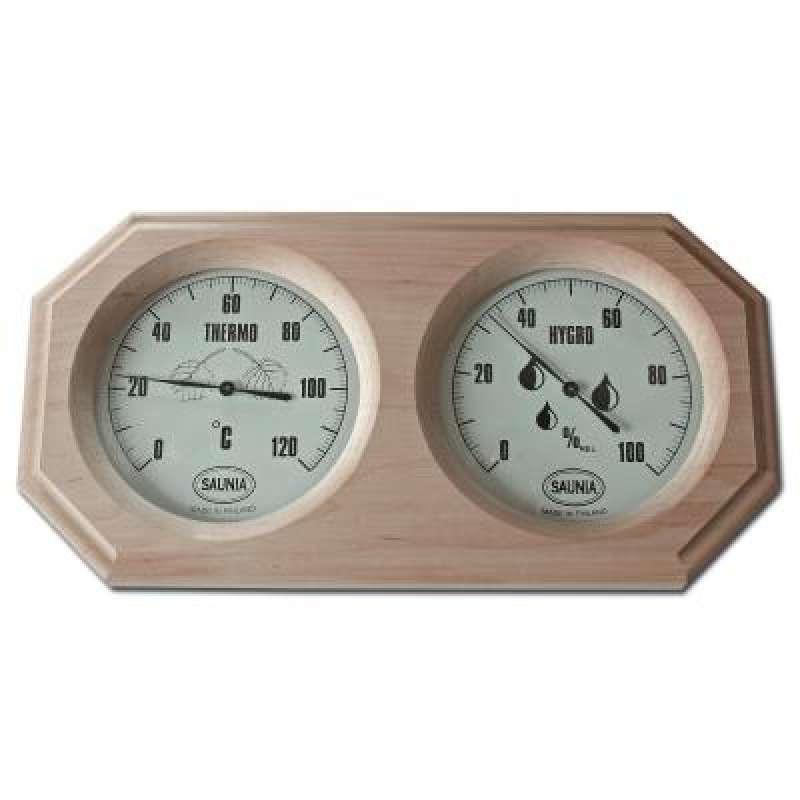 Nikkarien Sauna Thermo und Hygrometer aus dunkler Erle 543TL