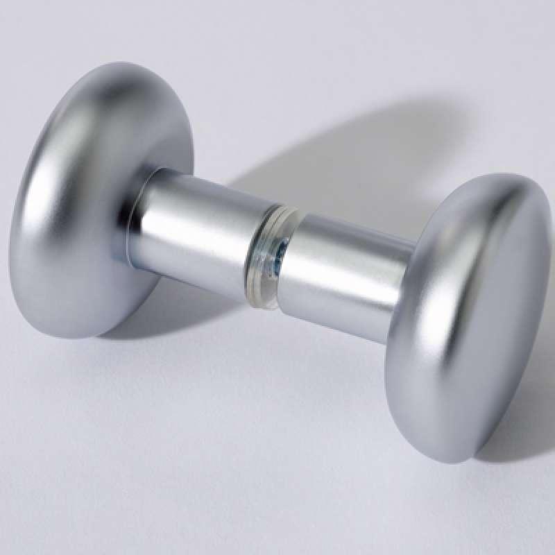 Infraworld Türknopf Set Aluminium Zink für Saunatüren 2 Stück ∅ 45 mm