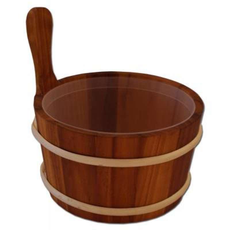 Nikkarien Sauna Kübel 4 l geölte wärmebehandelte Espe mit Kunststoffeinsatz 895L