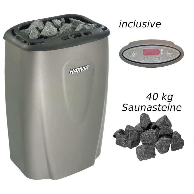 Harvia Saunaofen Moderna E 4,5 kW Elektroofen V45E Platinum Saunaheizgerät
