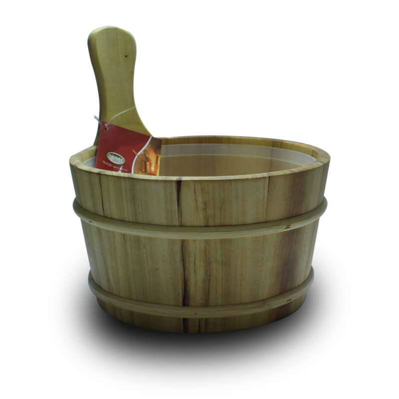 Nikkarien Sauna Kübel 4 l geölte Espe mit Kunststoffeinsatz 895L-hell