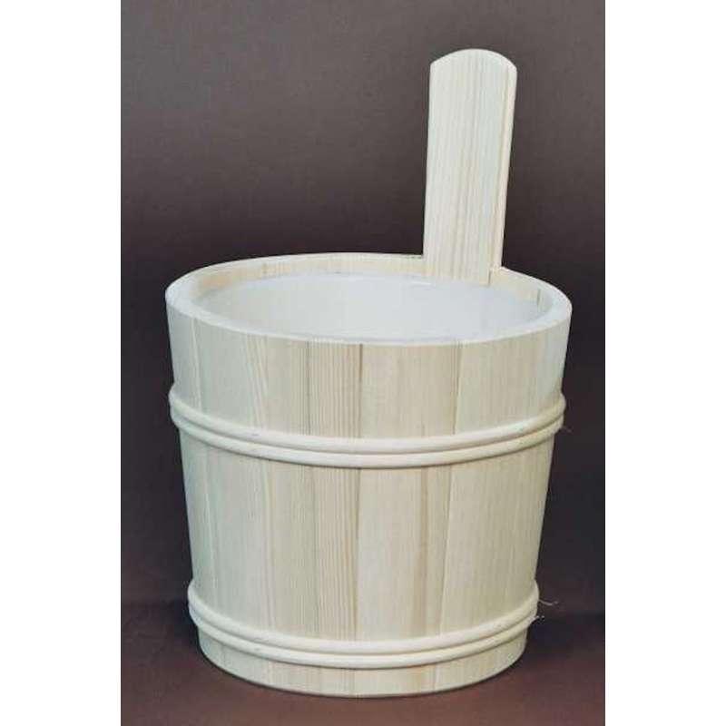 Achleitner Sauna Aufgusskübel Fichtenholz 5 ltr. mit Kunststoffeinsatz 616