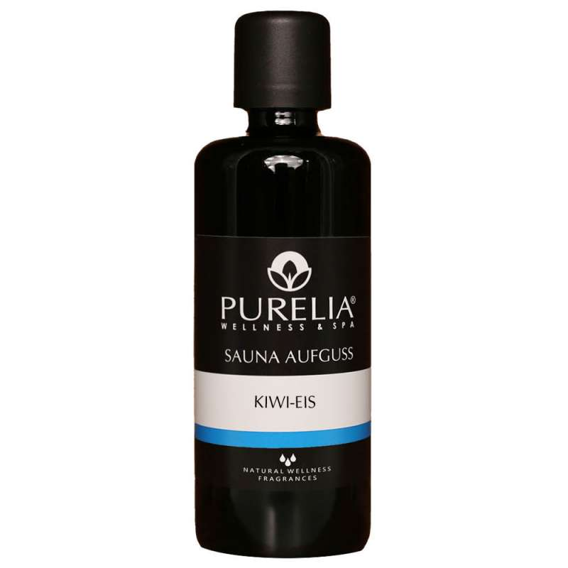 PURELIA Saunaaufguss Konzentrat Kiwi-Eis 100 ml natürlicher Sauna-aufguss - reine ätherische Öle