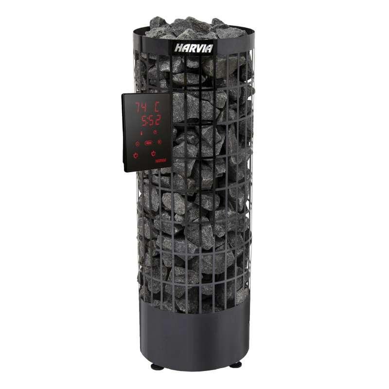 Harvia Cilindro XE 7 kW PC70XE Black Steel finnischer Saunaofen inkl. Saunasteuerung Xenio