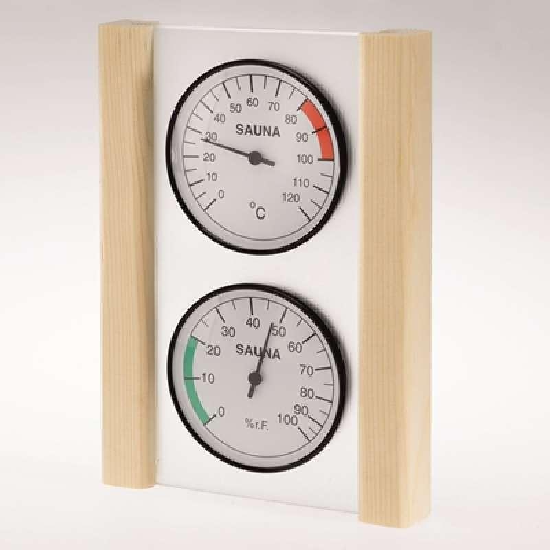 Infraworld Klimamessstation mit Glas Holzrahmen in Fichte Saunazubehör S2218
