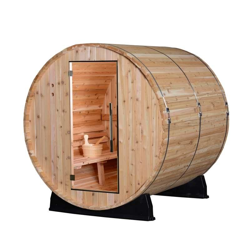 Almost Heaven Saunas PINNACLE Fasssauna Saunafass für 4 Personen ca. 180x183 cm