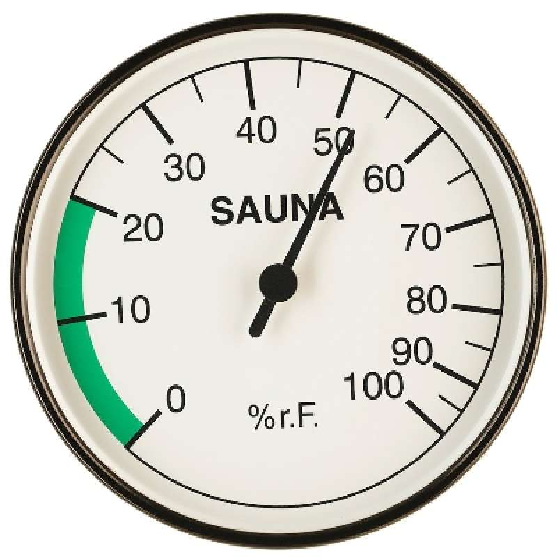 Infraworld Hygrometer 100 mm Durchmesser Saunazubehör Saunamessgerät S2216